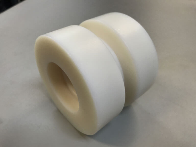 PA6 G loopwiel Nylon draaien - Bespex kunststof bewerking