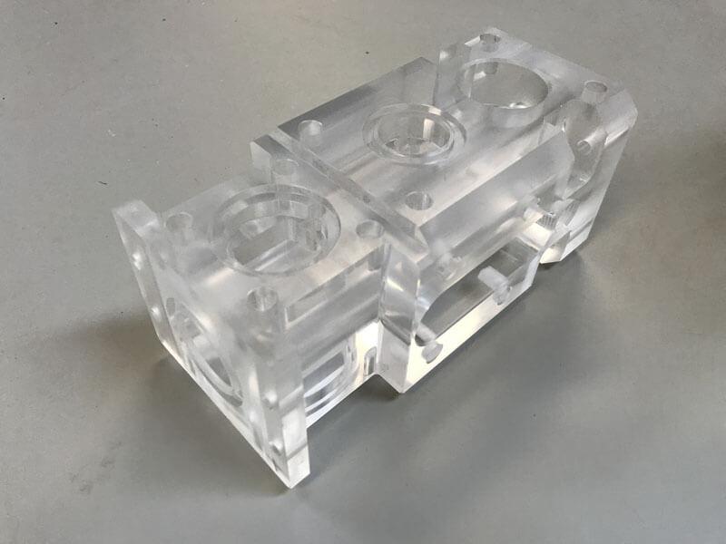 Plexiglas freesdeel - Bespex kunststof bewerking